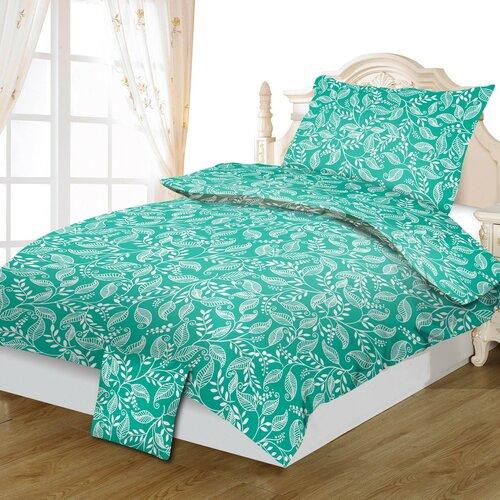 Bavlněné povlečení Tereza green, 140 x 200 cm, 70 x 90 cm, 40 x 40 cm