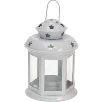 Koopman Lampáš na čajovú svíčku Tharsis biela, 14 cm