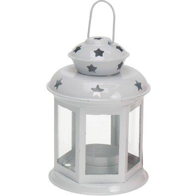 Koopman Lucerna na čajovou svíčku Tharsis bílá, 14 cm