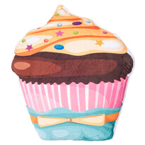 Karamellöntetes cukorszórásos torta formázottpárna, 43 x 38 cm