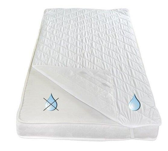 Ochraniacz na materac termoizolacyjnynieprzepuszalny z poliuretanem, 160 x 200 cm