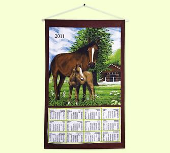 Textilní kalendář Koně 2011
