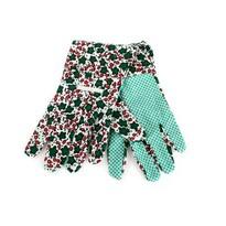 Ogrodowe  rękawice  damskie , bawełna, rozmiar 9