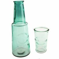 Karafa s pohárom, zelená