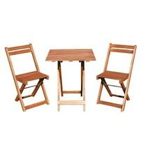 Happy Green Acacia balkonový set 3dílný se čtvercovým stolem