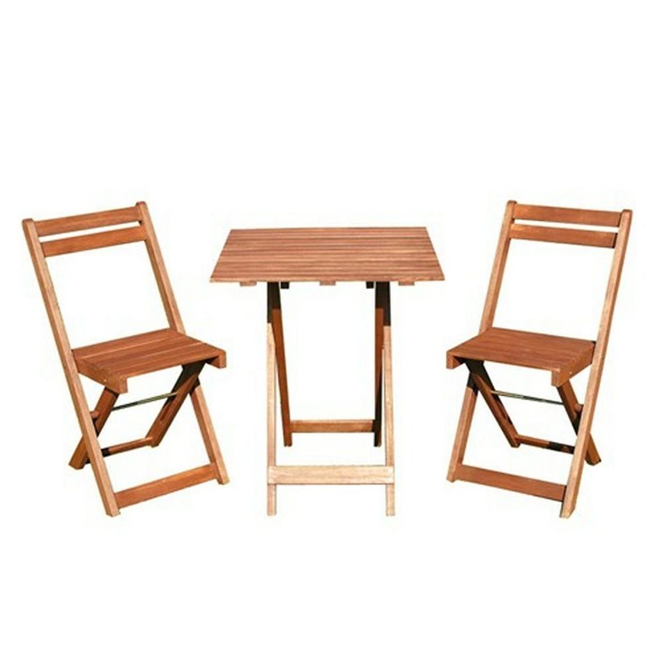 HAPPY GREEN Balkonový dřevěný set Acacia 3-dílný