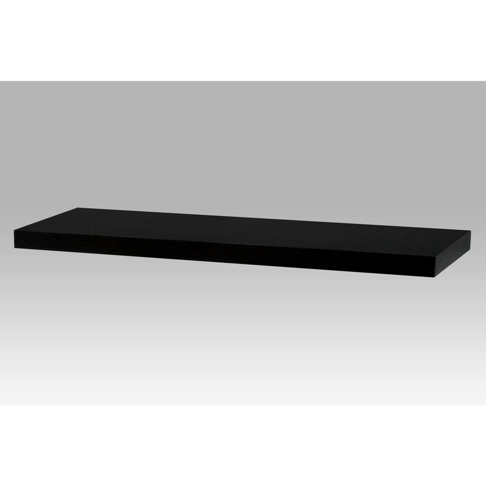 Nástěnná polička 80 cm, černá