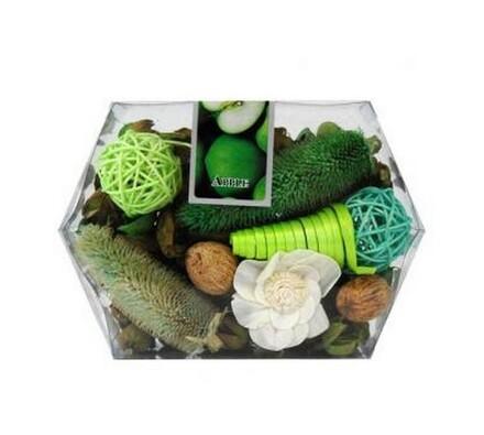 Sušená dekorace krabička zelená, zelená, 14 x 20 x 6 cm
