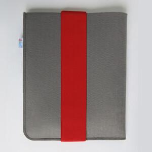 Pouzdro na tablet s červenou gumičkou