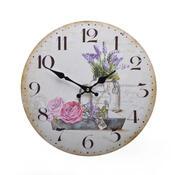 Nástěnné hodiny Růže HLC18093