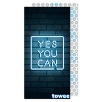 Prosop cu uscare rapidă Towee YES YOU CAN, 50 x 100 cm
