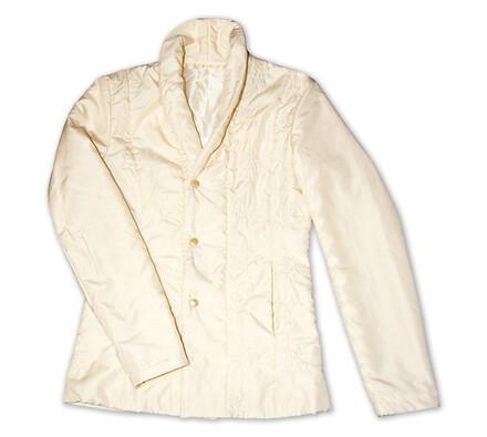 Dámský prošívaný kabátek, béžová, XXXL