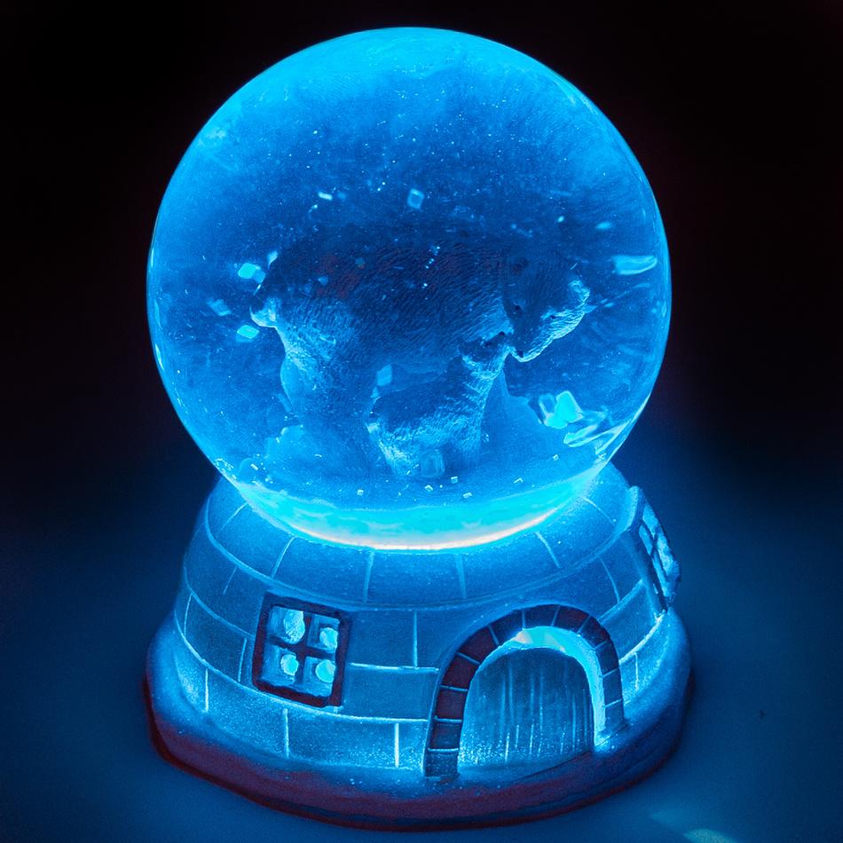 Vianočné LED snežítko Igloo Nuuk, 11 cm