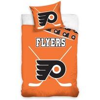 NHL Philadelphia Flyers pamut világító ágynemű, 140 x 200 cm, 70 x 90 cm