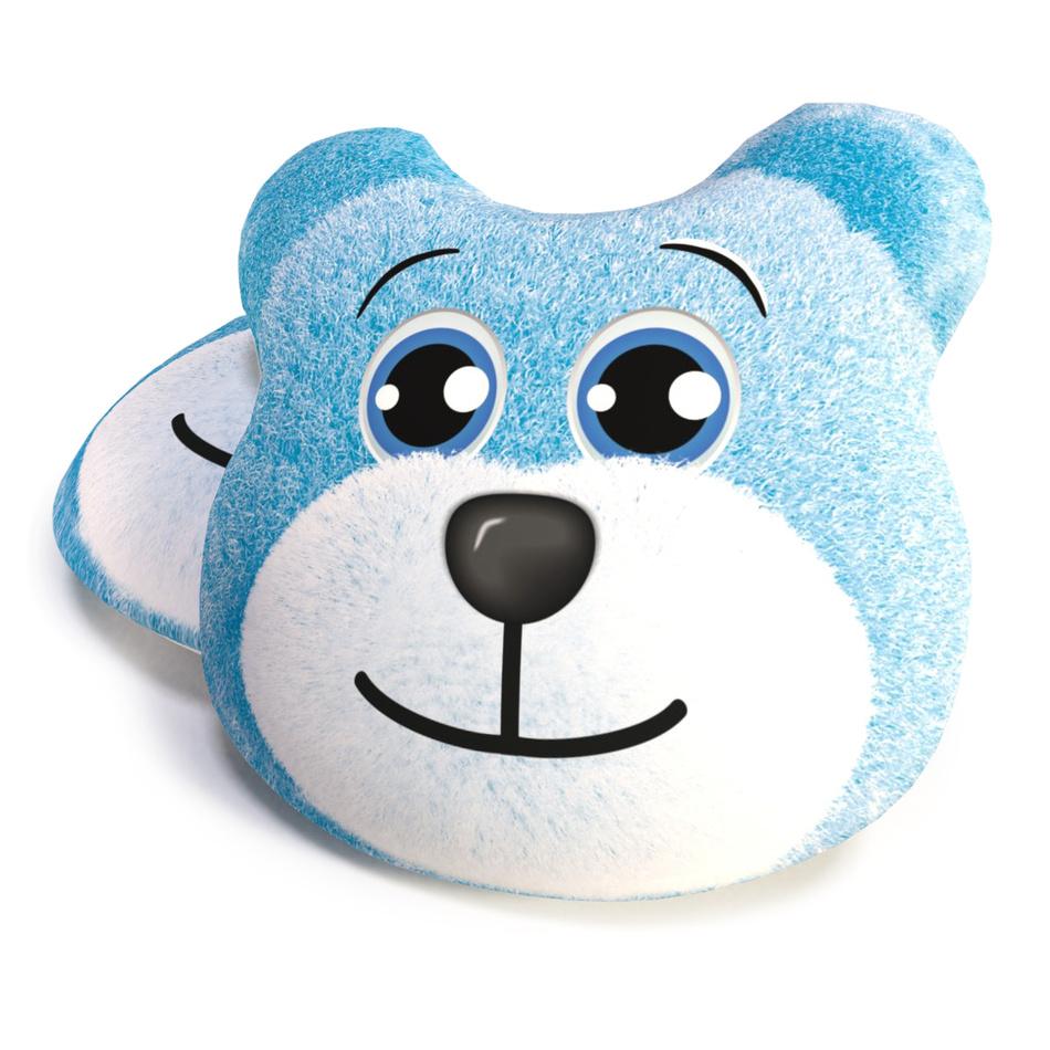 TipTrade Tvarovaný polštářek Medvěd modrá, 40 cm