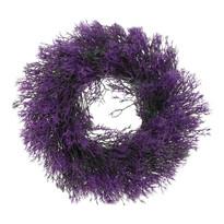 Umelý veniec Tráva fialová, pr. 30 cm