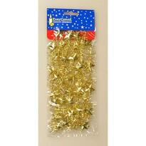Vánoční řetěz s hvězdami zlatá, 180 cm