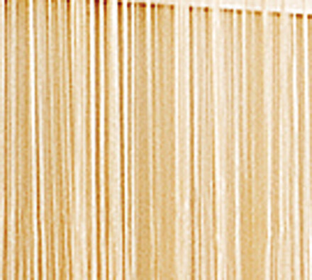 Provázková záclona Aga, béžová, 90 x 180 cm