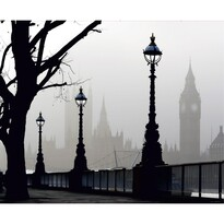 Fototapeta XXL Londýn v mlze 360 x 270 cm, 4 díly