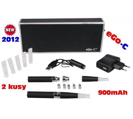 Elektronická cigareta eGo-C 900mAh, 2ks, černá, 10,8 x 1,4 cm