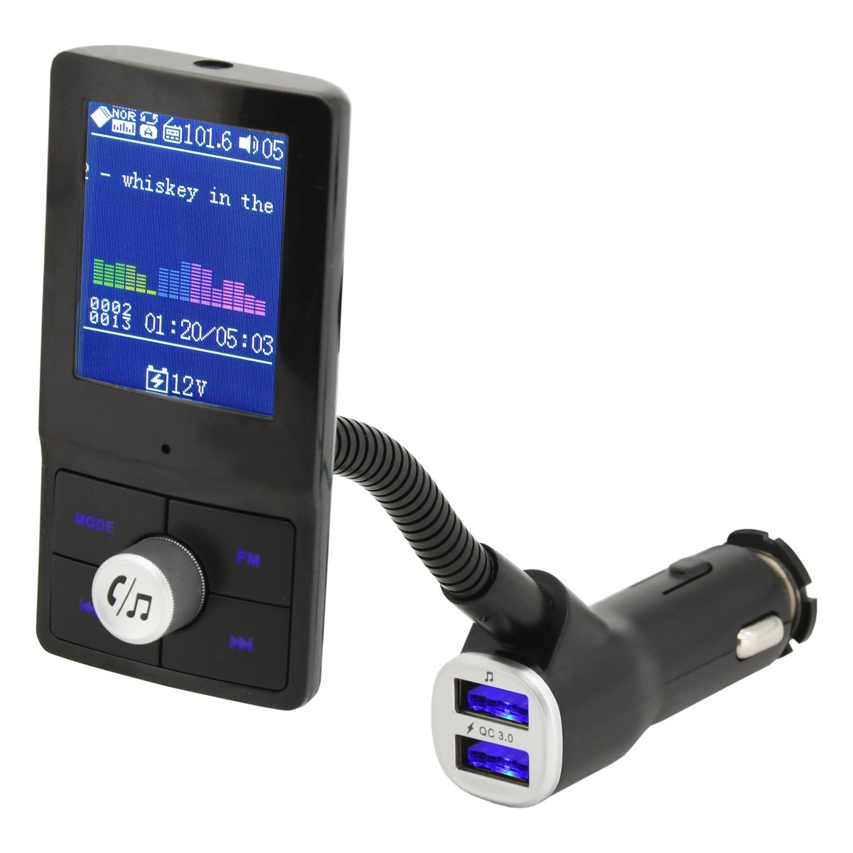 Compass Hands free FM transmitter LCD COLOR
