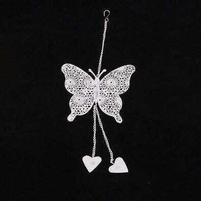 Kovový závěsný motýl