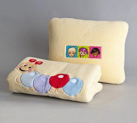 Dětský set polštářek a podložka housenka SVITAP