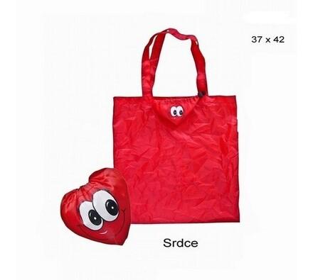 Nákupní taška Famito 0002 srdce, červená