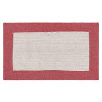 Suport farfurie Heda, bej / roșu, 30 x 50 cm