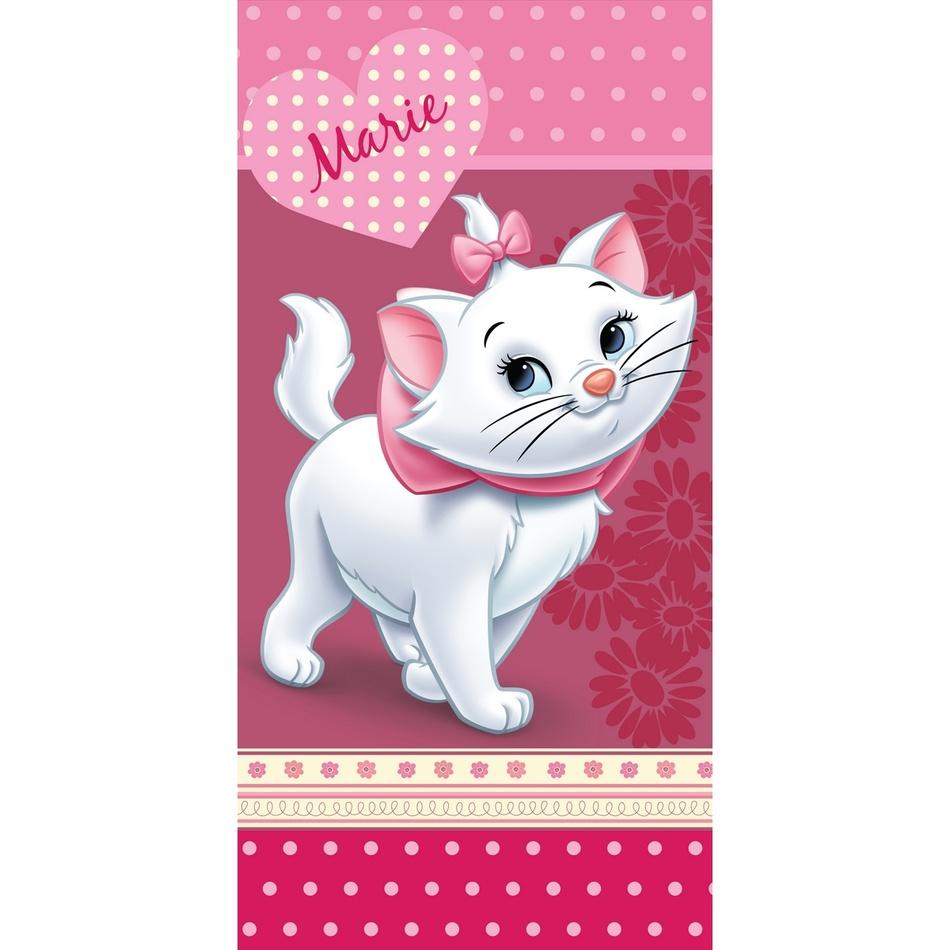 Jerry Fabrics Osuška Marie Cat Pinkie 75x150 cm