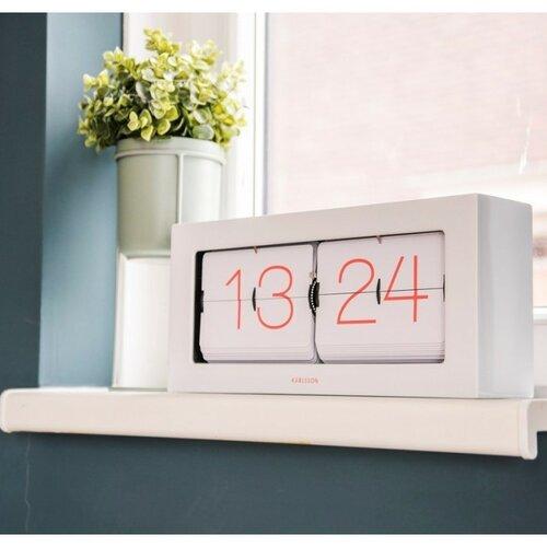 Karllson 5642WH dizájner fali/asztali billenthető óra, 36 x 18 x 9 cm