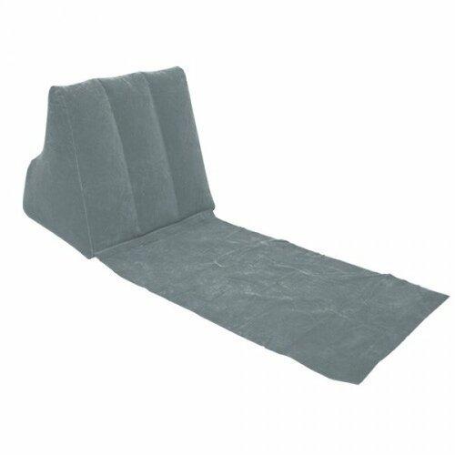 Ležadlo s nafukovacie opierkou sivá