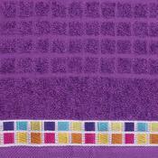 Ručník Mozaik fialová, 50 x 90 cm