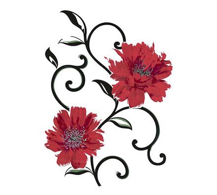 samolep.fólie květina červená, metallic, 65x85