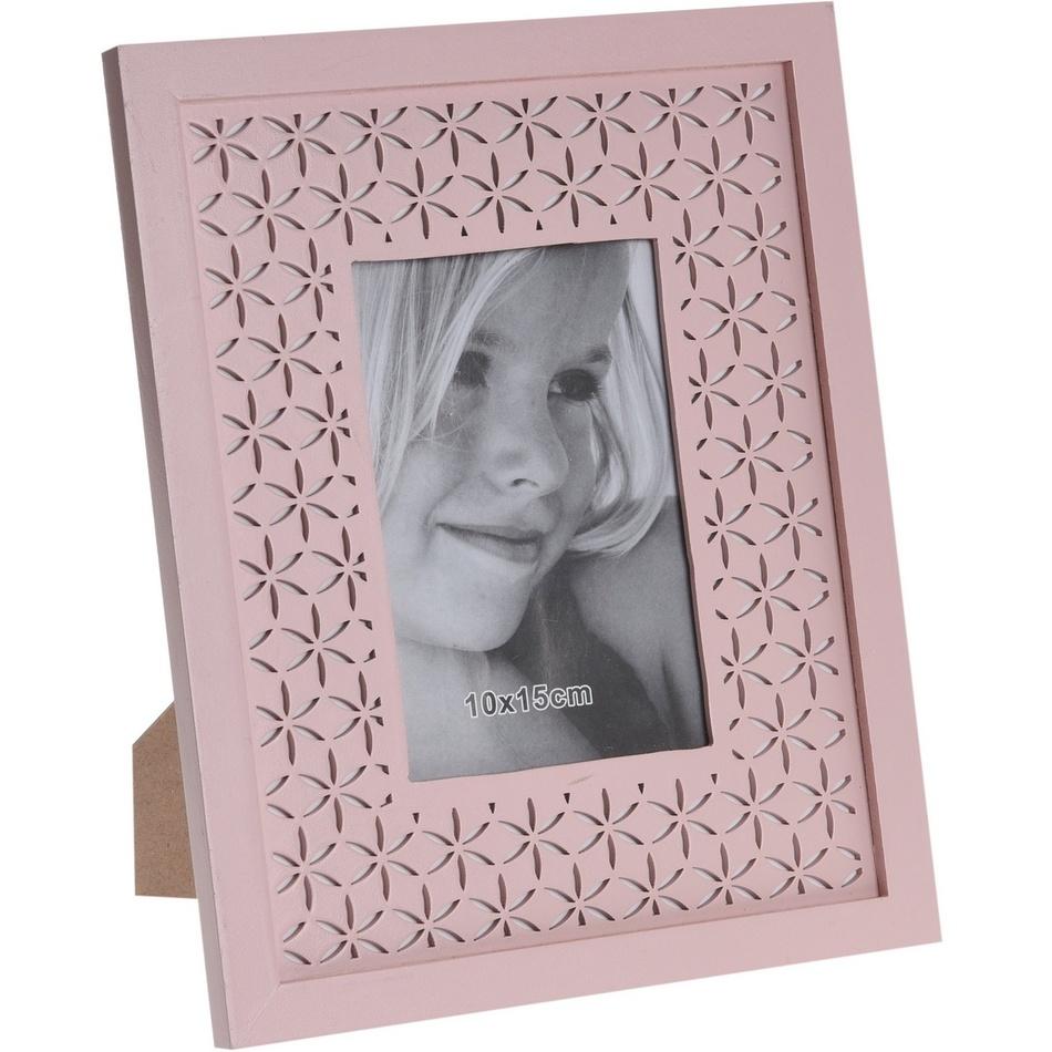 Fotorámček Trento ružová, 26,5 x 21,5 cm