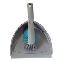 Metlička a lopatka s gumovou lištou STYLE, sivá