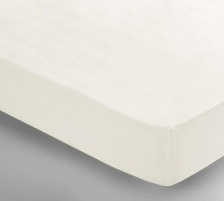 Saténové prostěradlo Uni bílá, 150 x 240 cm