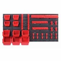 Függeszthető panel szerszámokhoz, 10 boxszal és 22 tartóval Orderline, 80 x 16,5 x 40 cm