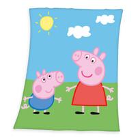Koc dziecięcy Świnka Peppa, 130 x 160 cm