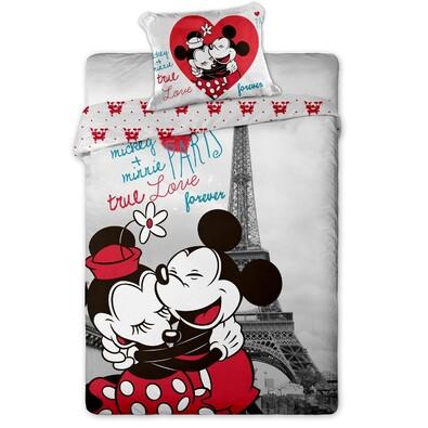 e3ee4c3299 Mikey és Minnie in Paris gyerek pamut ágyneműhuzat, 140 x 200 cm, 70 ...