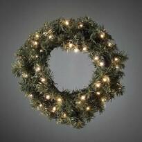 Vánoční jedlový věnec pr. 45 cm, 40 LED