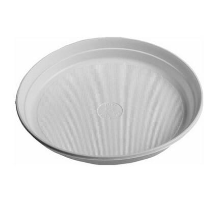 Jednorázový mělký talíř, 24 ks, bílá, 22 cm
