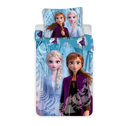 Jerry Fabrics Detské bavlnené obliečky Ľadové Kráľovstvo Snowflakes 2019. 140 x 200 cm, 70 x 90