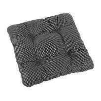 Siedzisko Adela pikowane Grochy czarne, 40 x 40 cm