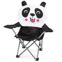 Dziecięce krzesełko składane Hatu, panda, 57 x 60 x 32 cm