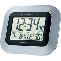 Digitální nástěnné DCF hodiny stříbrná