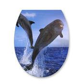 Samolepka na WC prkénko delfín