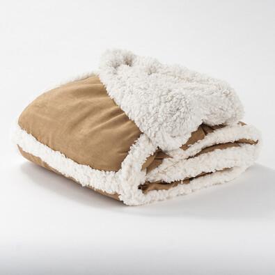 Beránková deka, světle hnědá