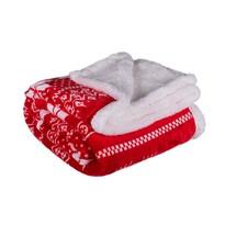Pătură imitație blană de miel Winter roșie, 150 x 200 cm
