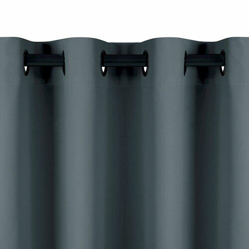 AmeliaHome Záves Blackout EYELETS sivá, 140 x 245 cm